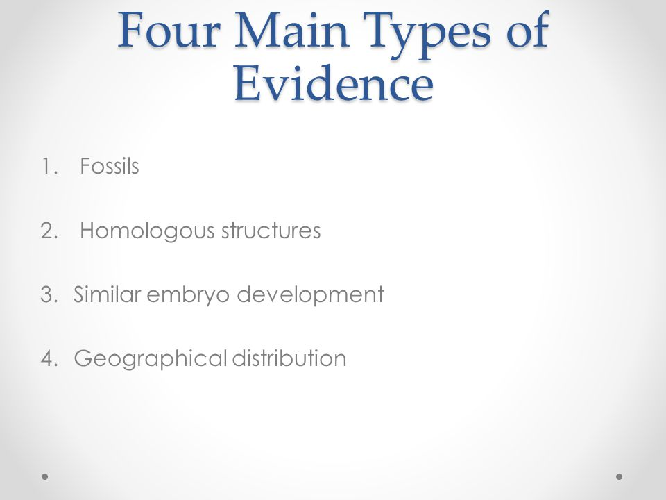 Four Main Types of Evidence