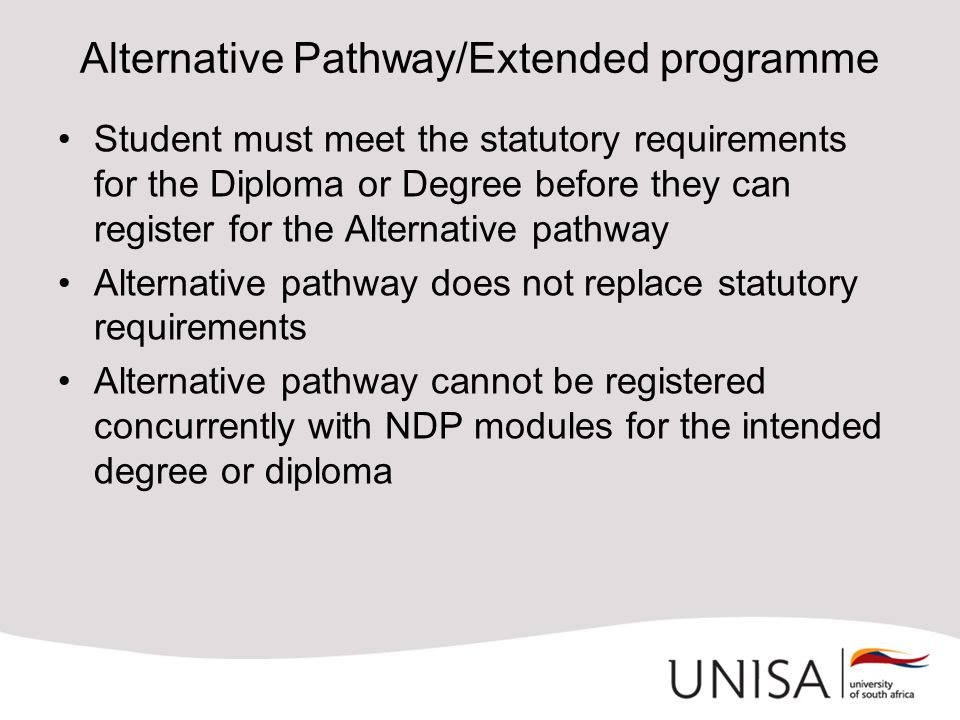 Alternative Pathway/Extended programme