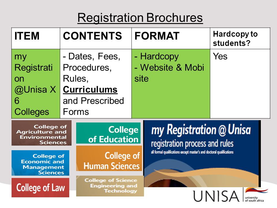 Registration Brochures