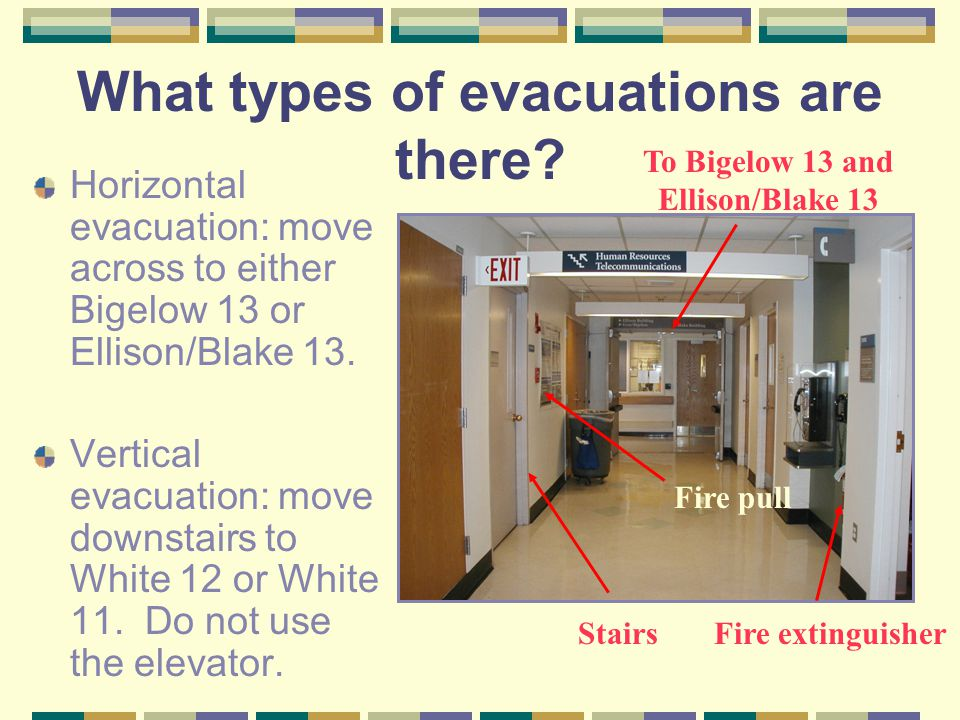 What types of evacuations are there