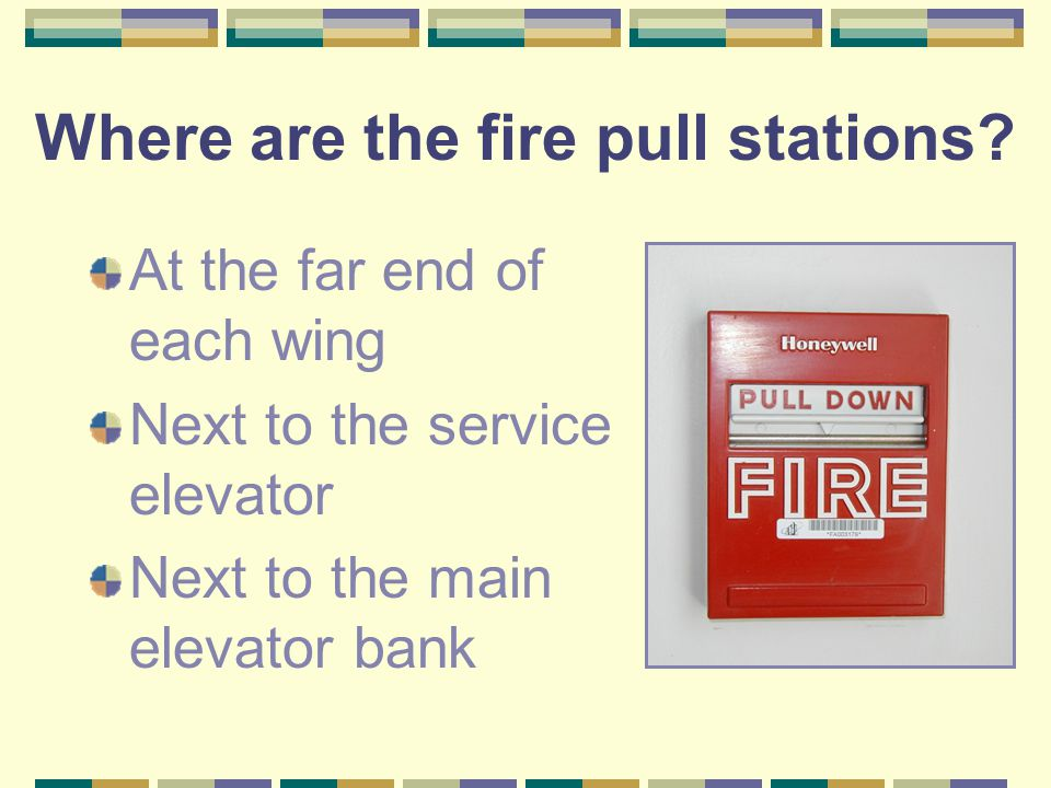 Where are the fire pull stations