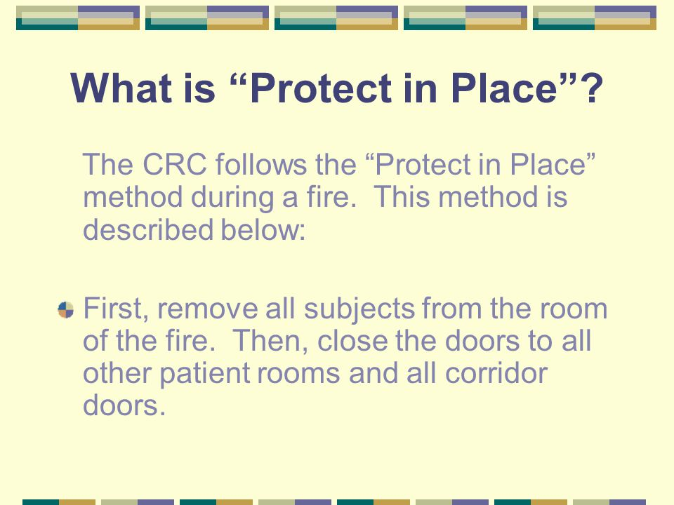 What is Protect in Place