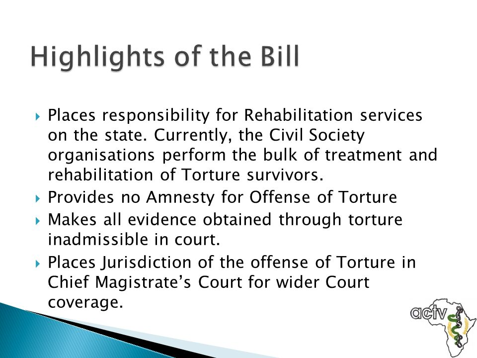 Highlights of the Bill