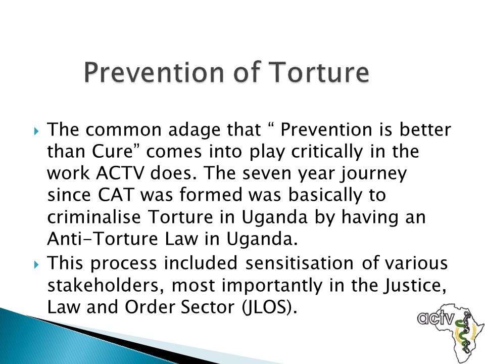 Prevention of Torture