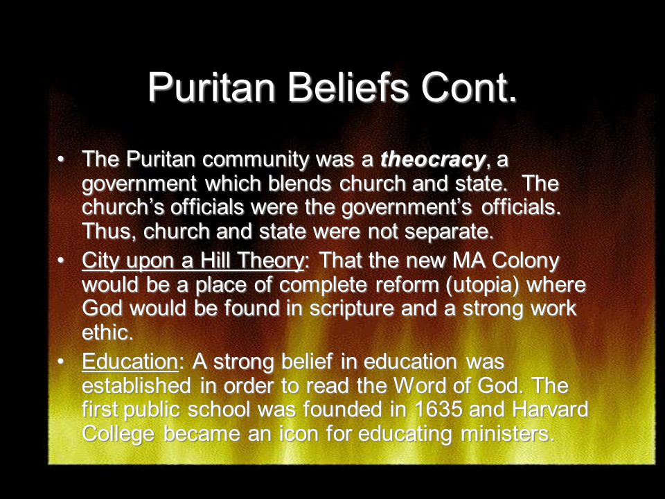 theocracy in salem Massachusetts during the colonial period of american history  a theocracy was defined in the early seventeenth century as a government that regards god,.