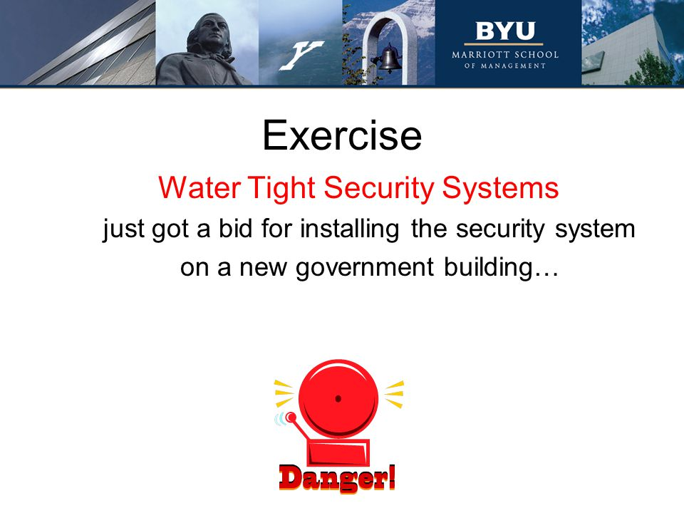 Exercise Water Tight Security Systems