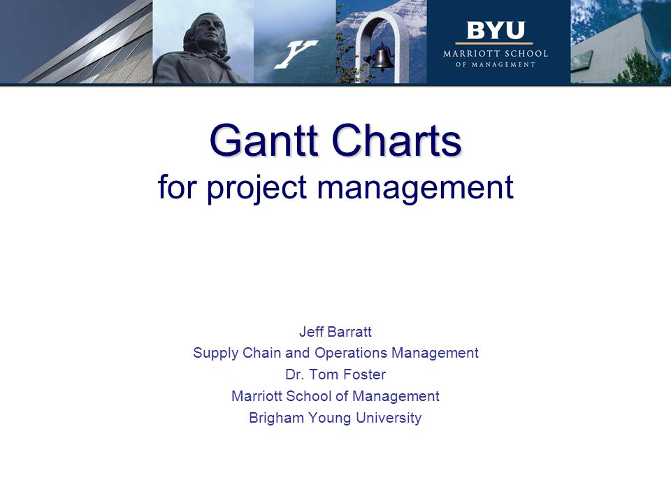 Gantt Charts for project management