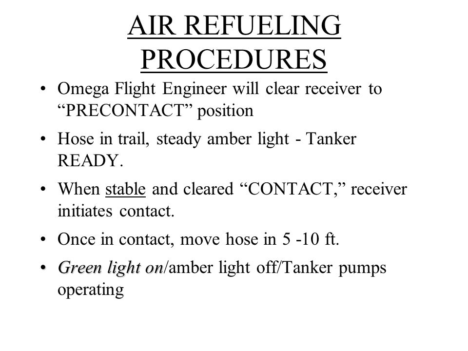 AIR REFUELING PROCEDURES