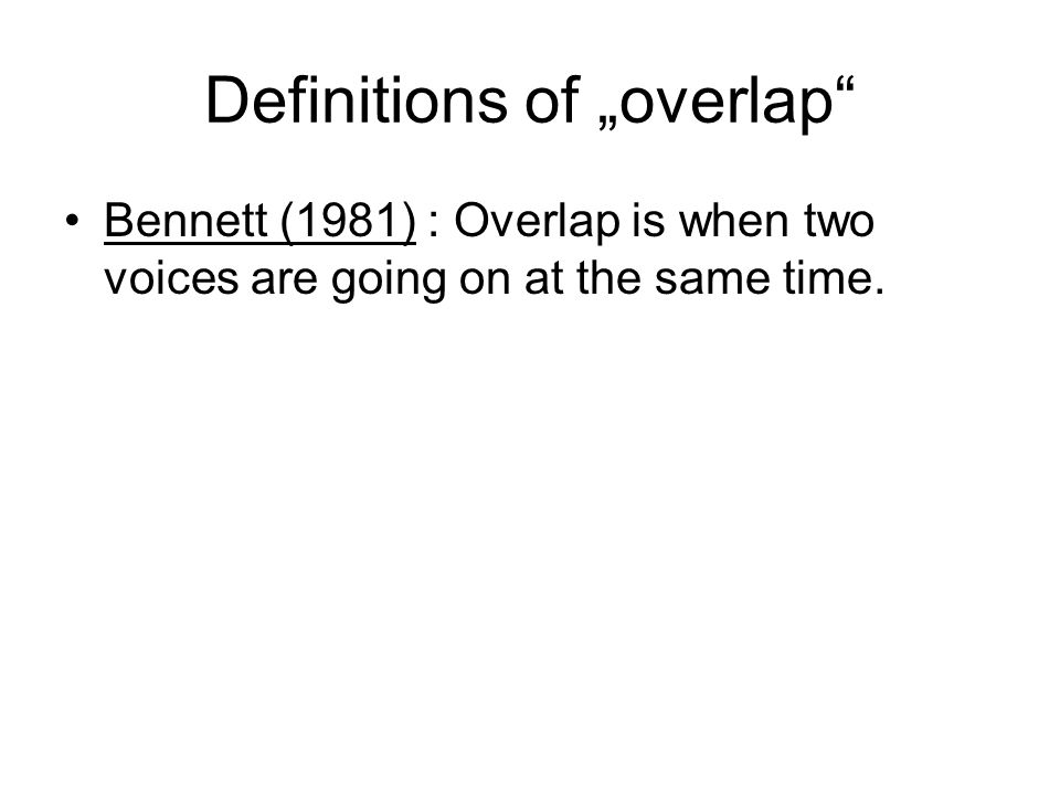 "Definitions of ""overlap"