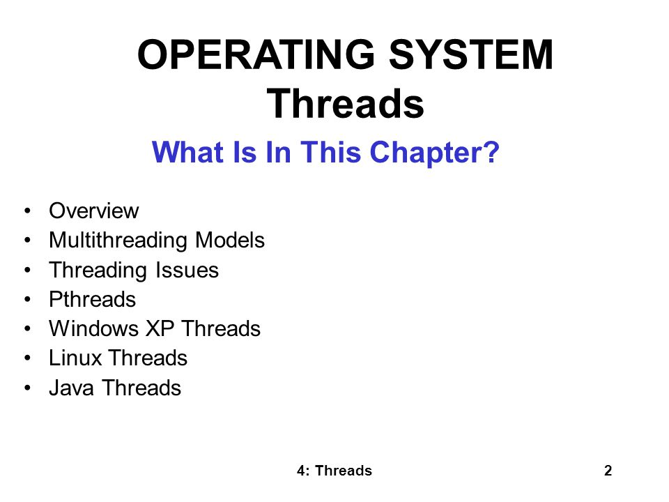 OPERATING SYSTEM Threads