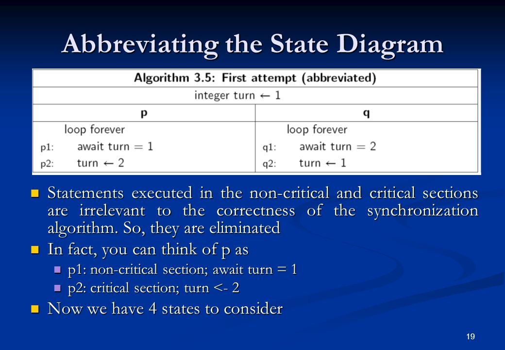 Abbreviating the State Diagram