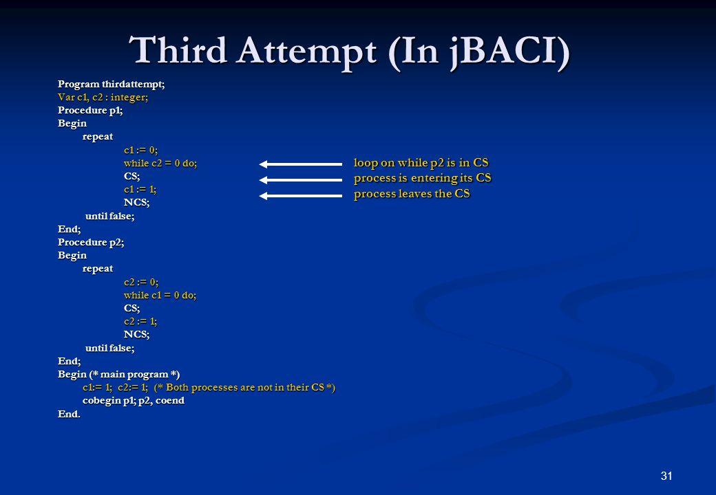 Third Attempt (In jBACI)
