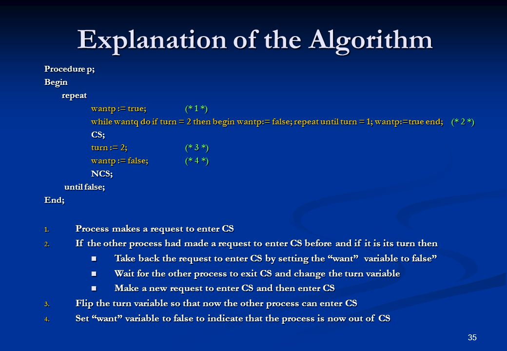 Explanation of the Algorithm