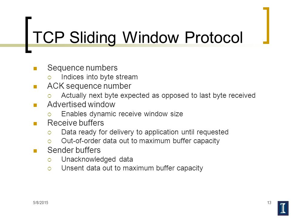 TCP Sliding Window Protocol