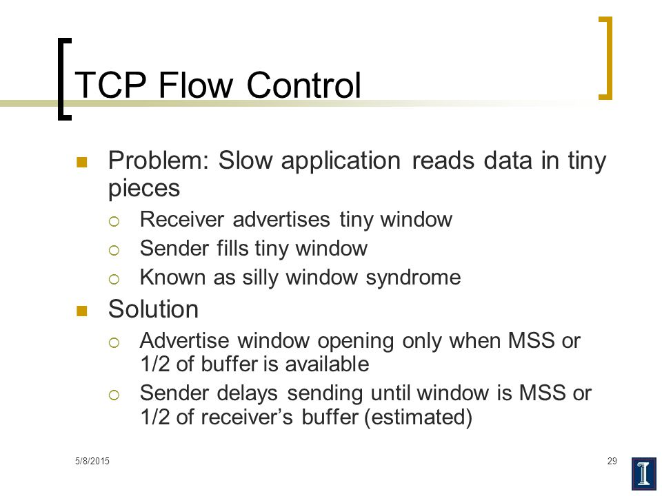 TCP Flow Control Problem: Slow application reads data in tiny pieces