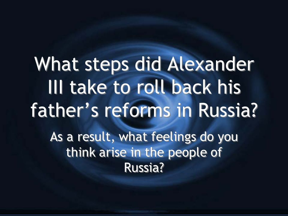As a result, what feelings do you think arise in the people of Russia