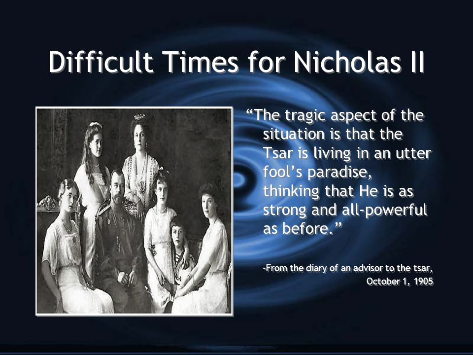 Difficult Times for Nicholas II