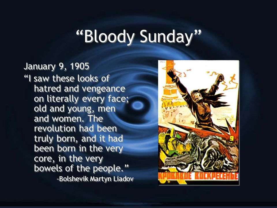 Bloody Sunday January 9, 1905