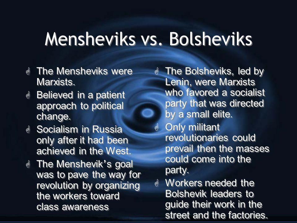 Mensheviks vs. Bolsheviks