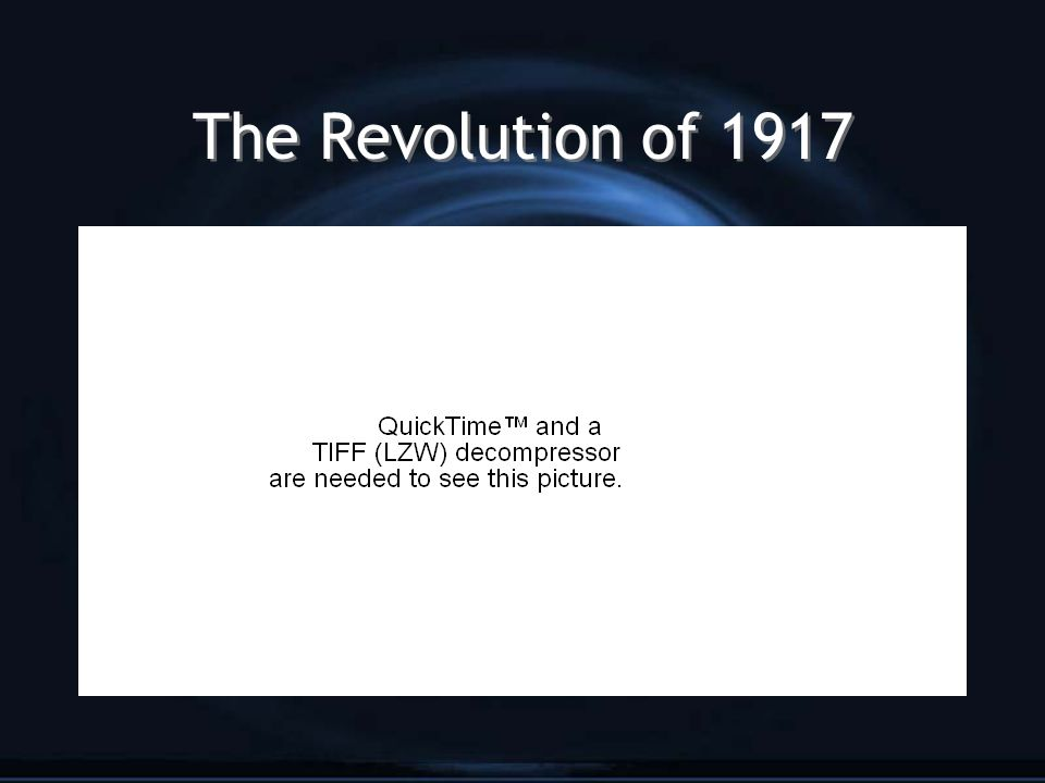 The Revolution of 1917