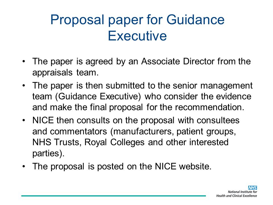 Proposal paper for Guidance Executive