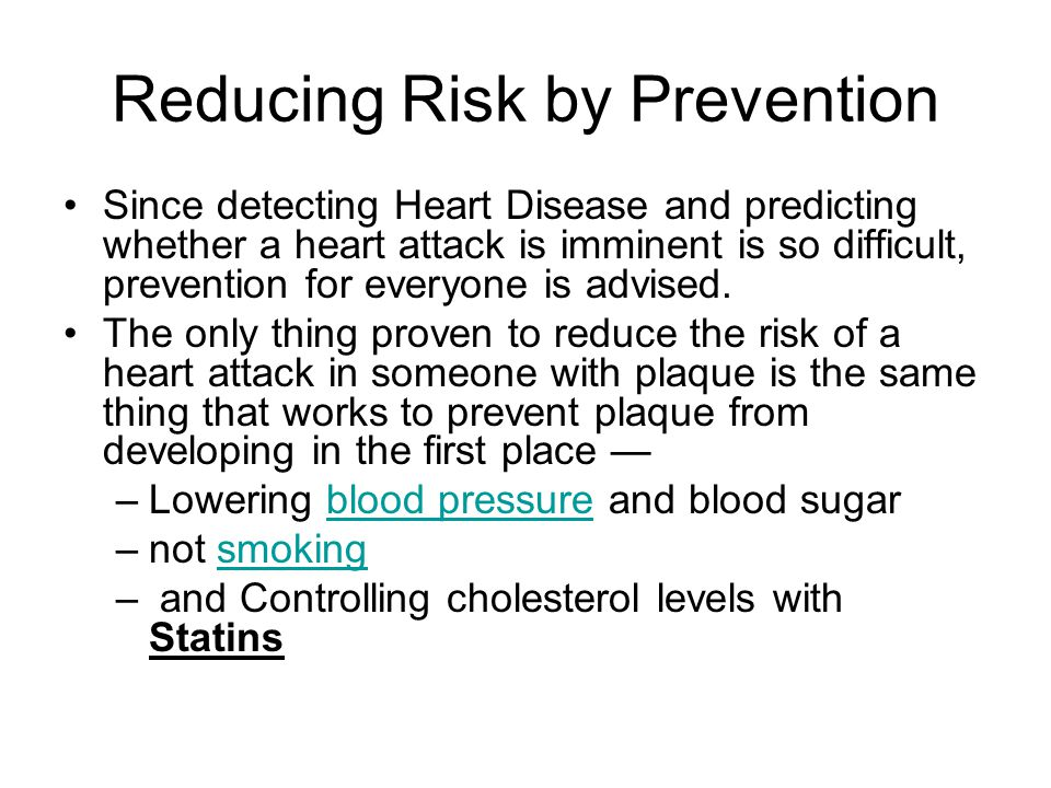 Reducing Risk by Prevention