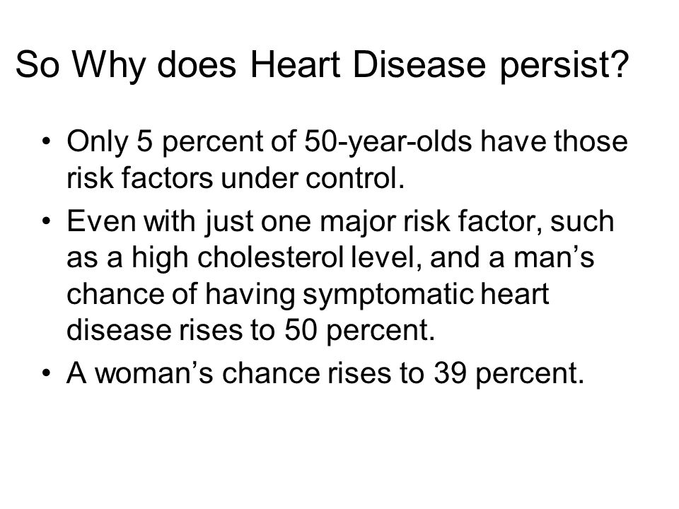 So Why does Heart Disease persist