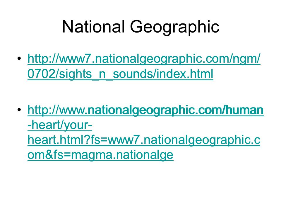 National Geographic http://www7.nationalgeographic.com/ngm/0702/sights_n_sounds/index.html.