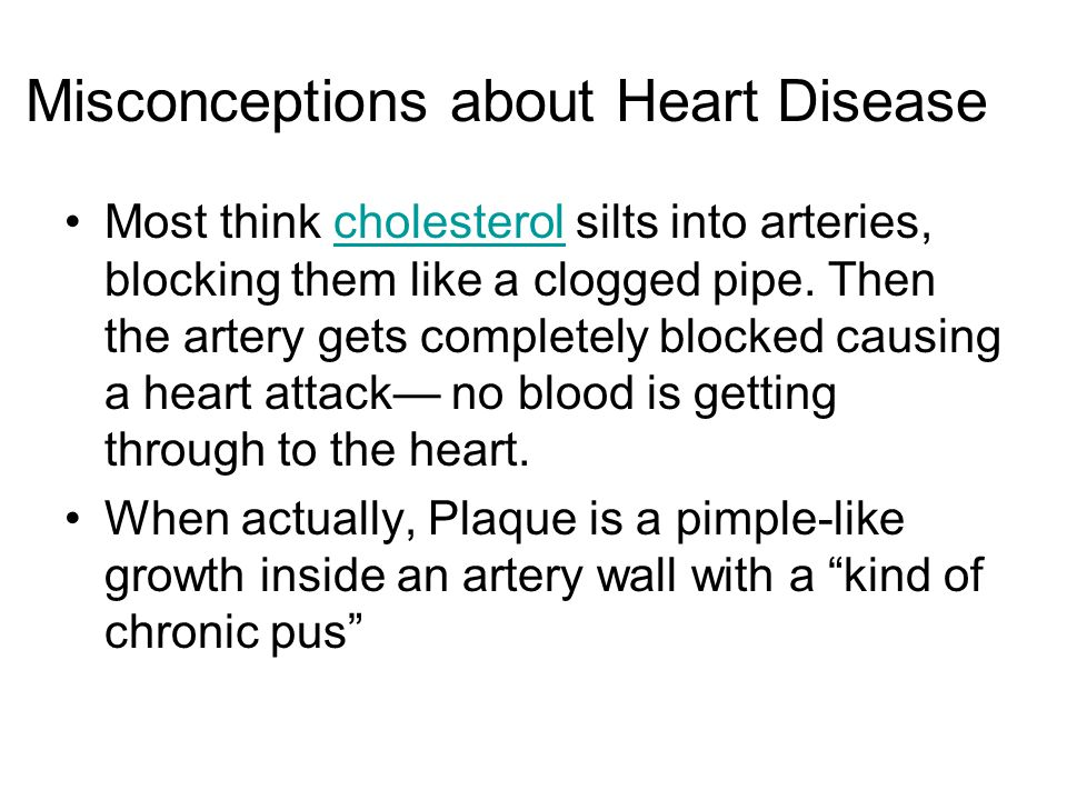 Misconceptions about Heart Disease