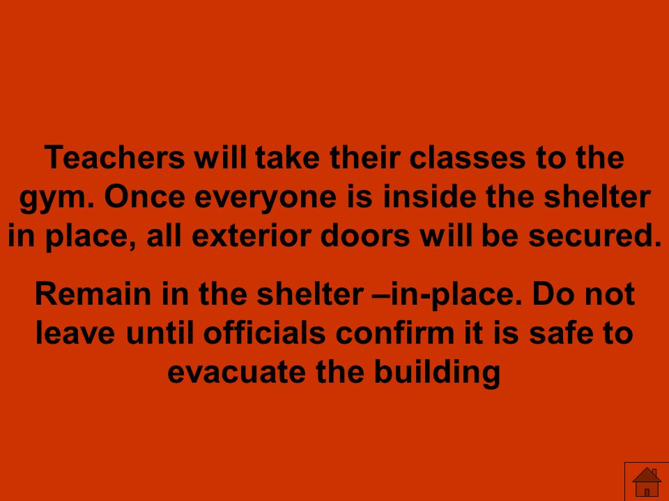 Teachers will take their classes to the gym
