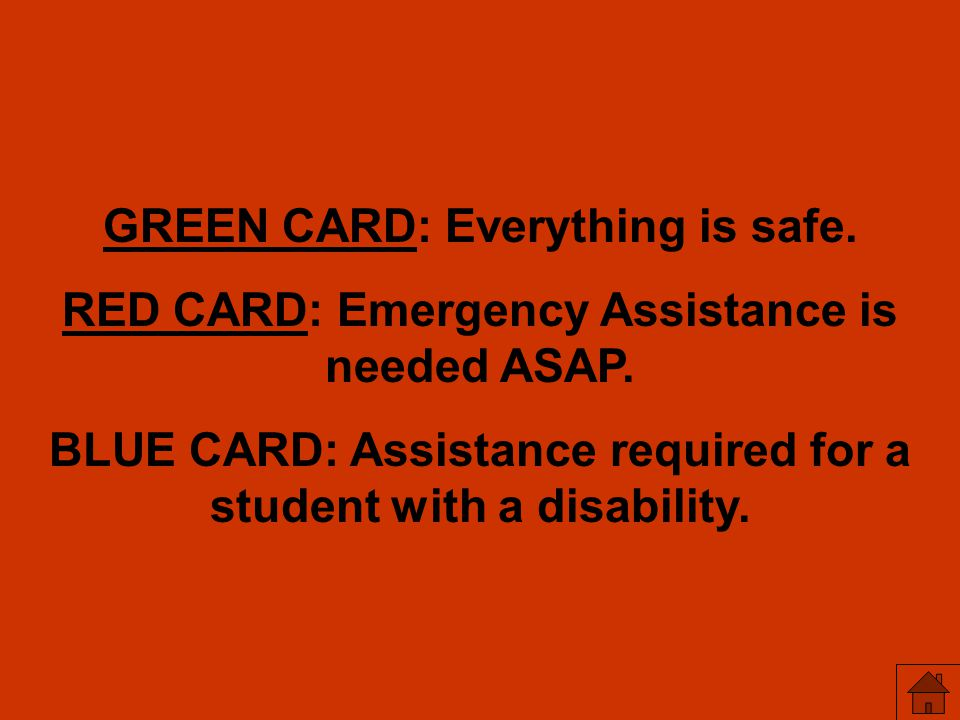 GREEN CARD: Everything is safe.