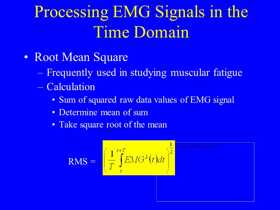 Processing EMG Signals in the Time Domain