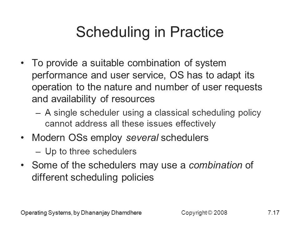 Scheduling in Practice