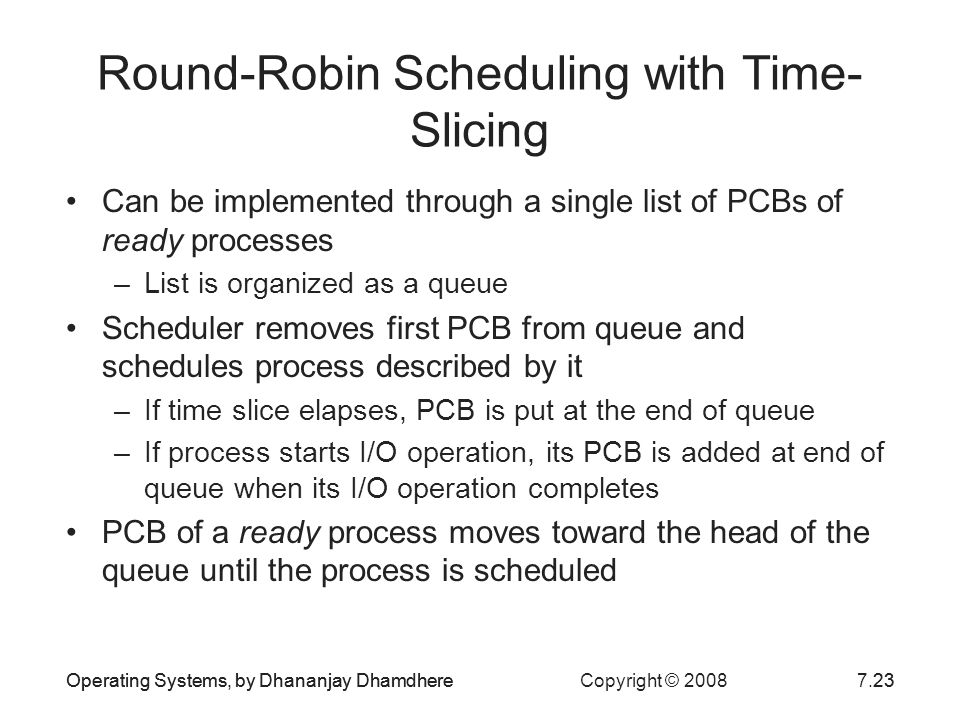 Round-Robin Scheduling with Time-Slicing