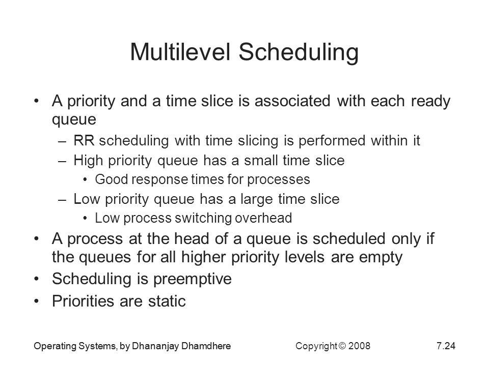 Multilevel Scheduling