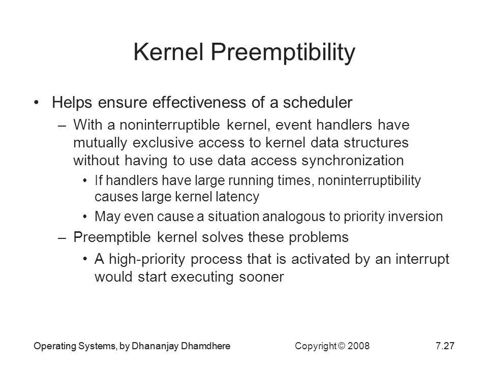 Kernel Preemptibility