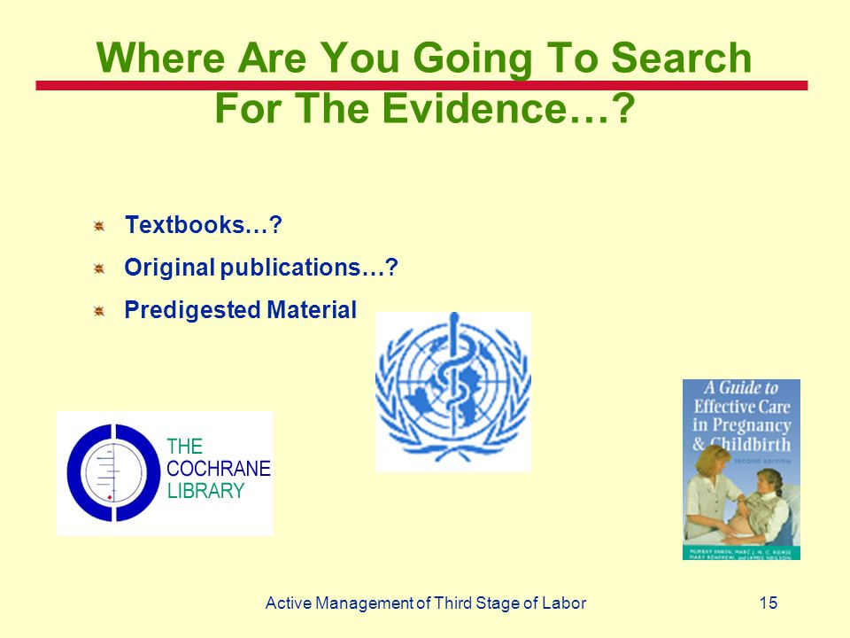 Where Are You Going To Search For The Evidence…