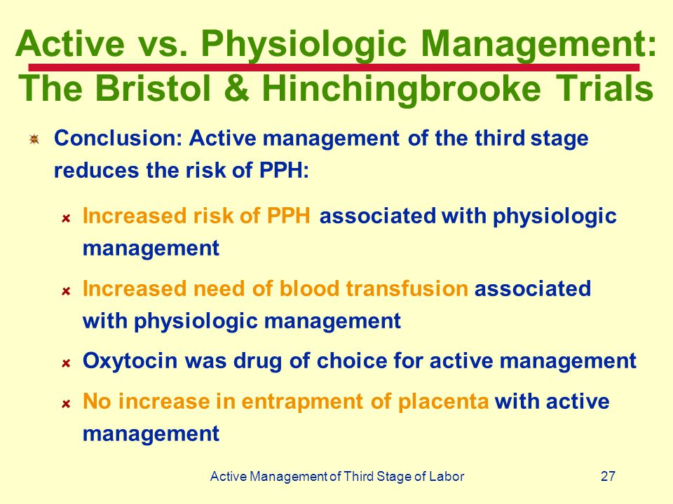 Active vs. Physiologic Management: The Bristol & Hinchingbrooke Trials