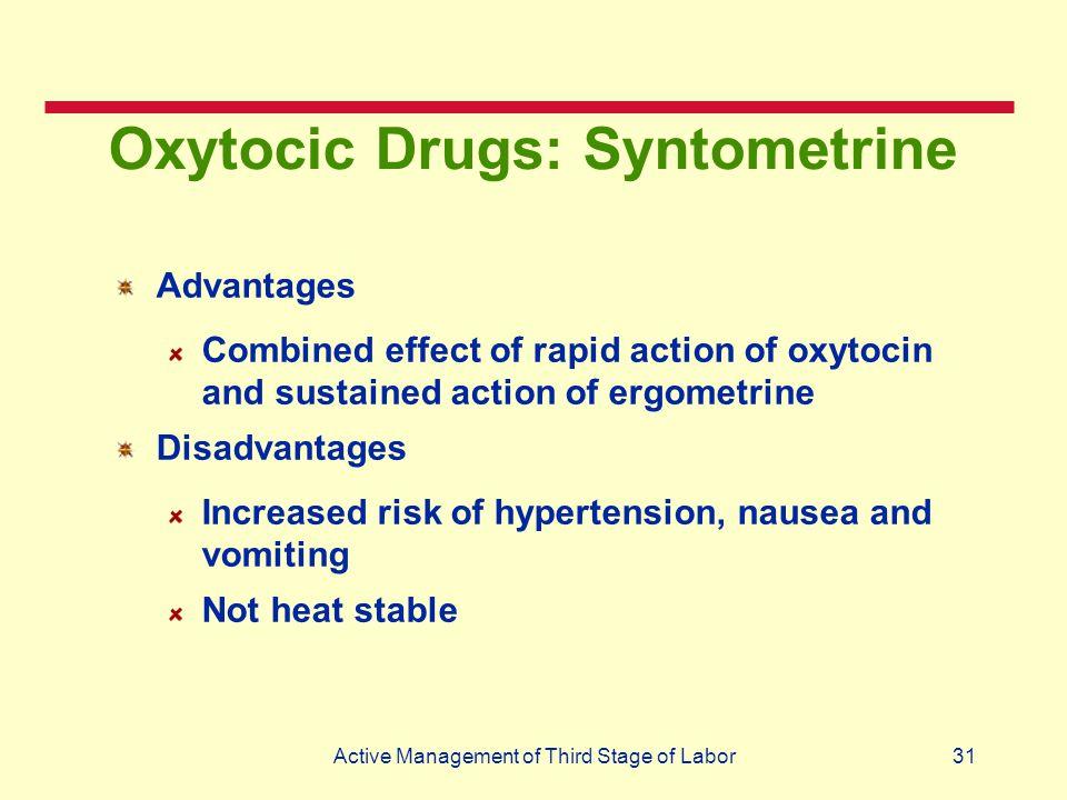 Oxytocic Drugs: Syntometrine
