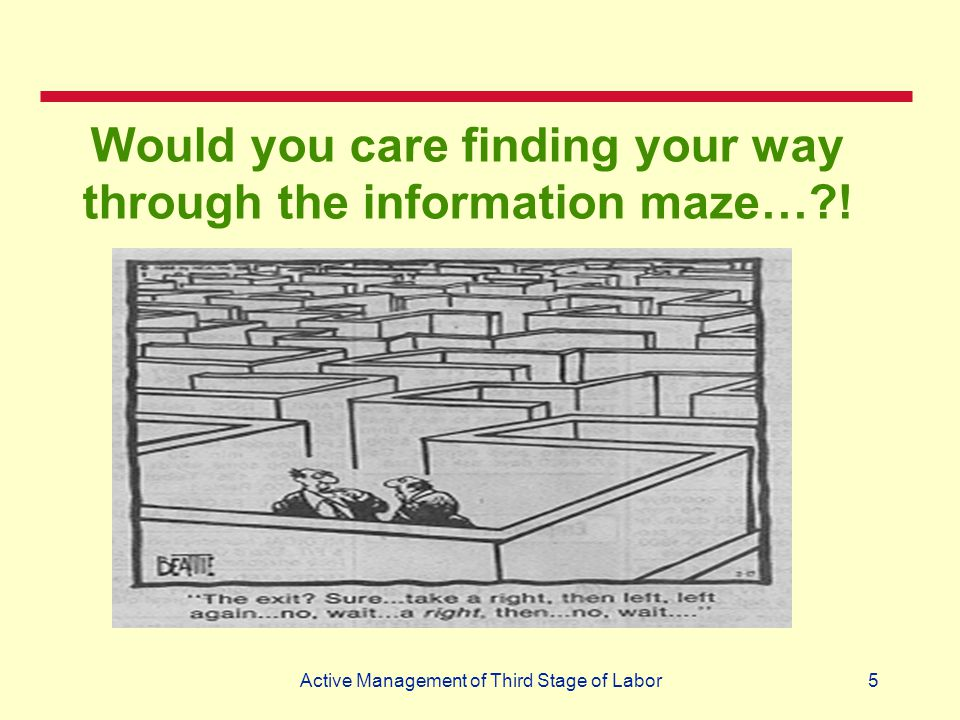 Would you care finding your way through the information maze… !