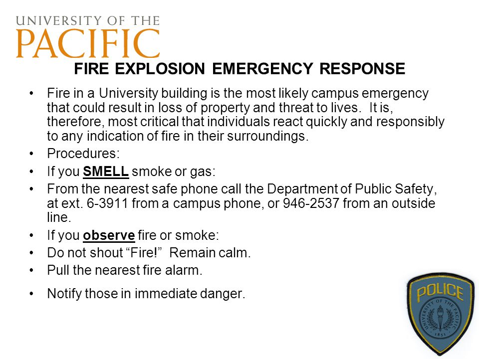 FIRE EXPLOSION EMERGENCY RESPONSE