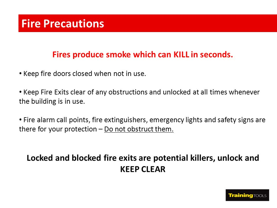 Fires produce smoke which can KILL in seconds.