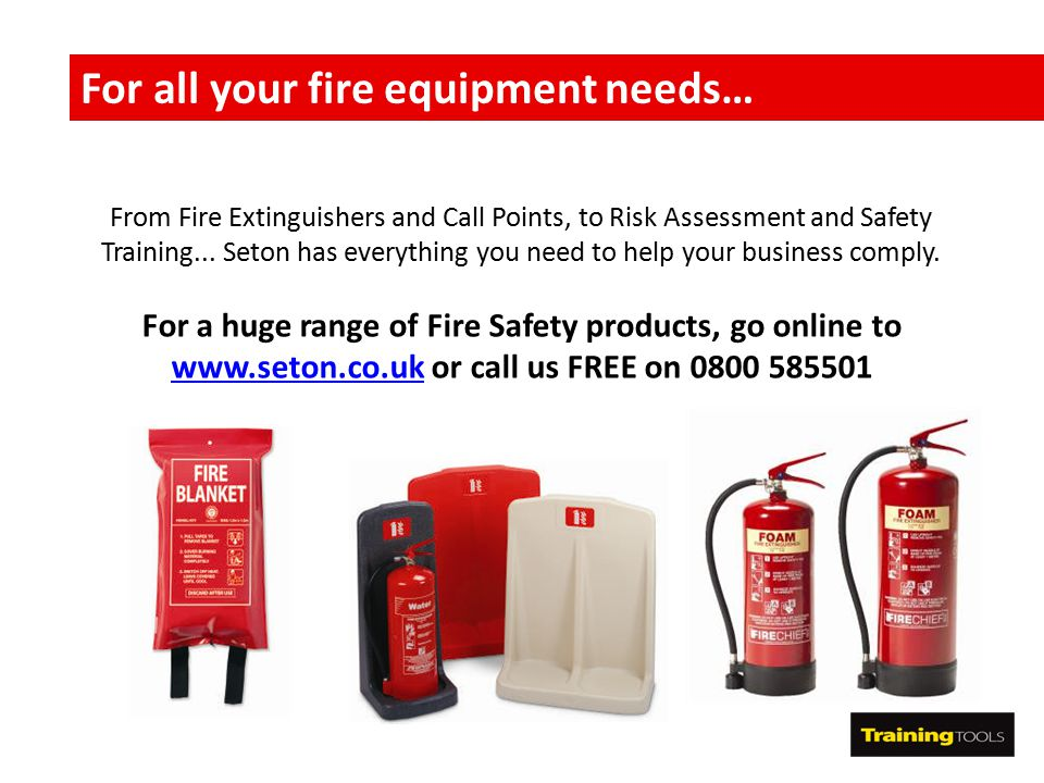 For all your fire equipment needs…