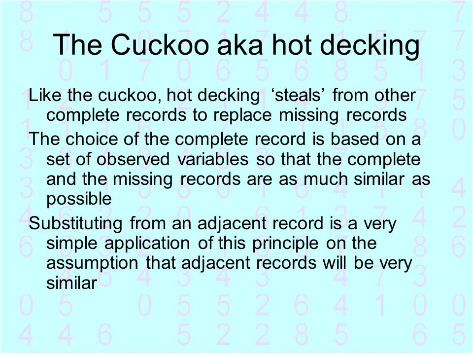 The Cuckoo aka hot decking