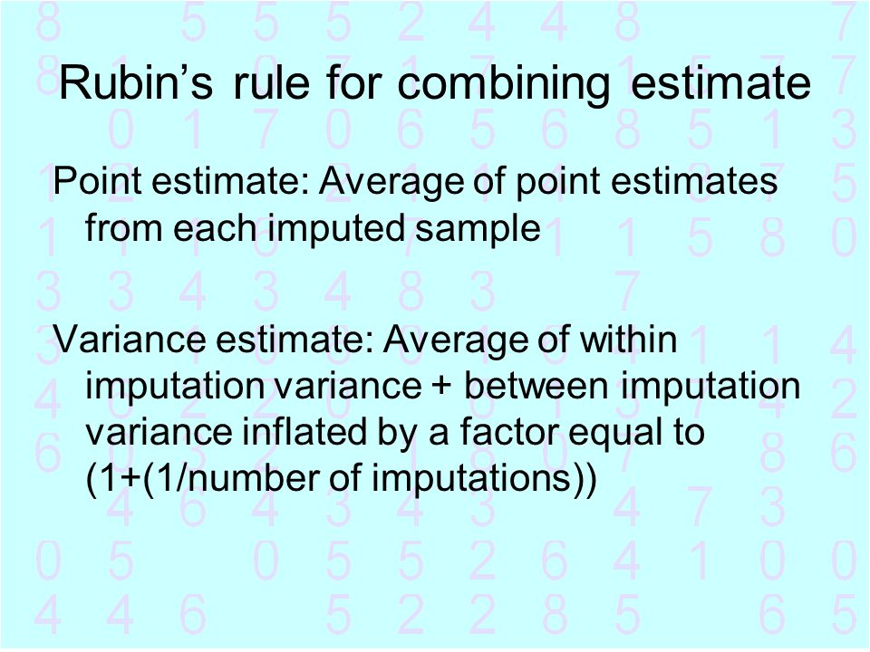 Rubin's rule for combining estimate
