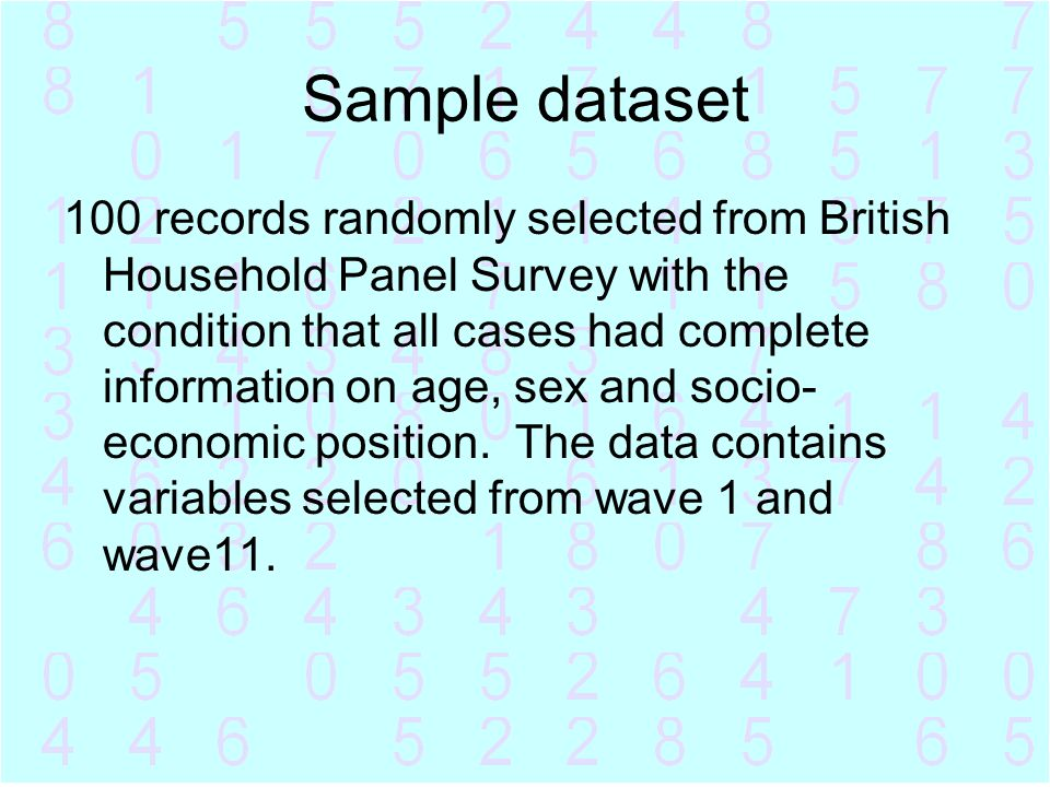 Sample dataset
