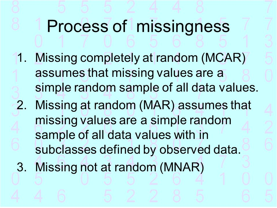Process of missingness