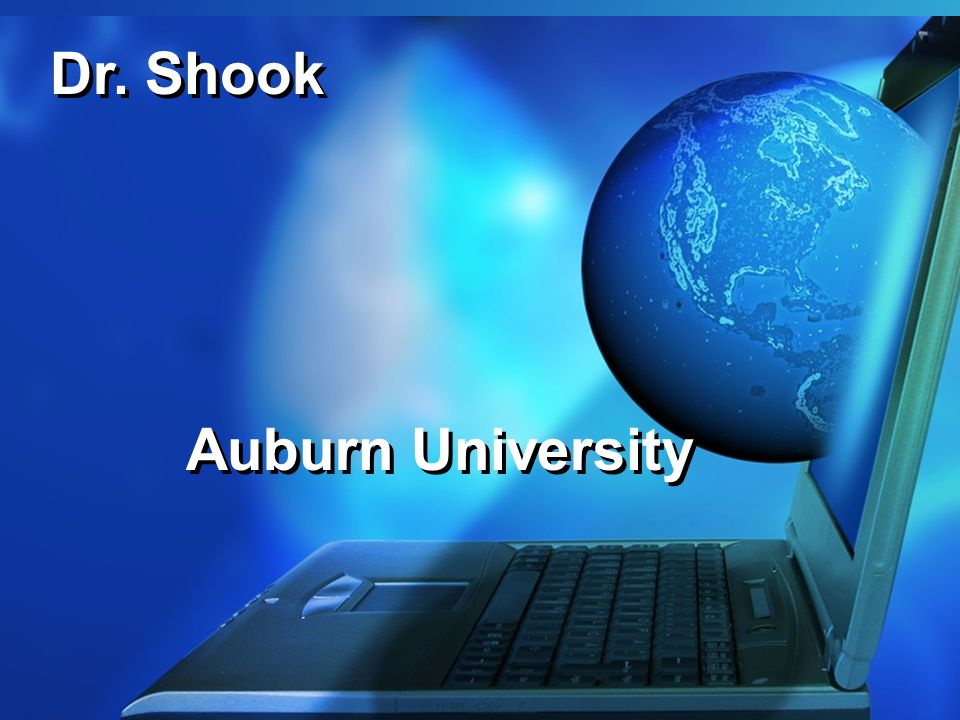 Dr. Shook Auburn University