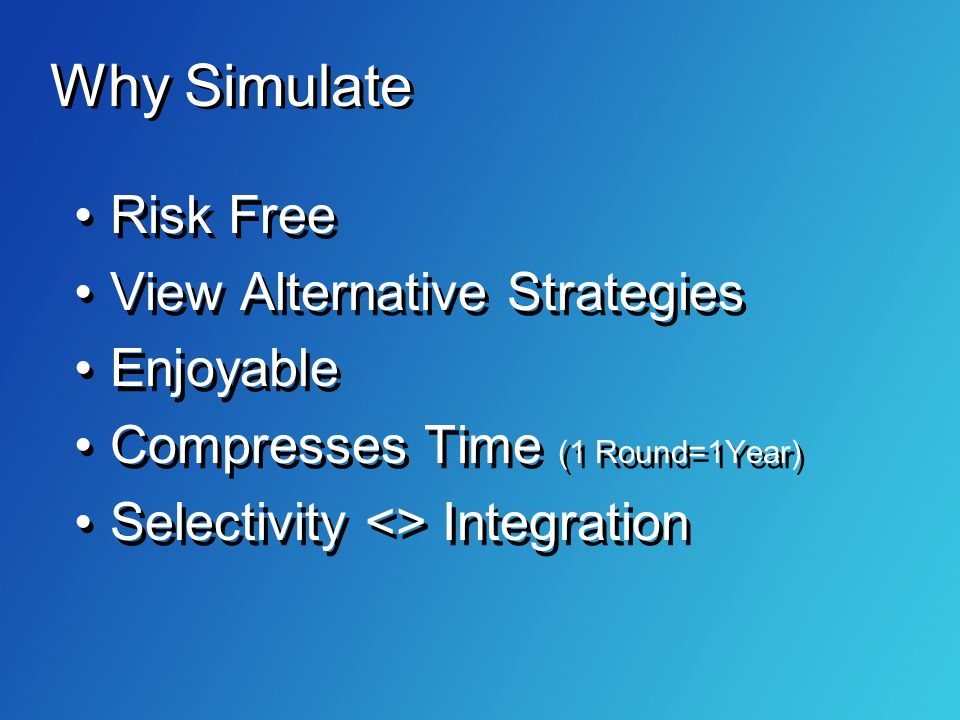 Why Simulate Risk Free View Alternative Strategies Enjoyable