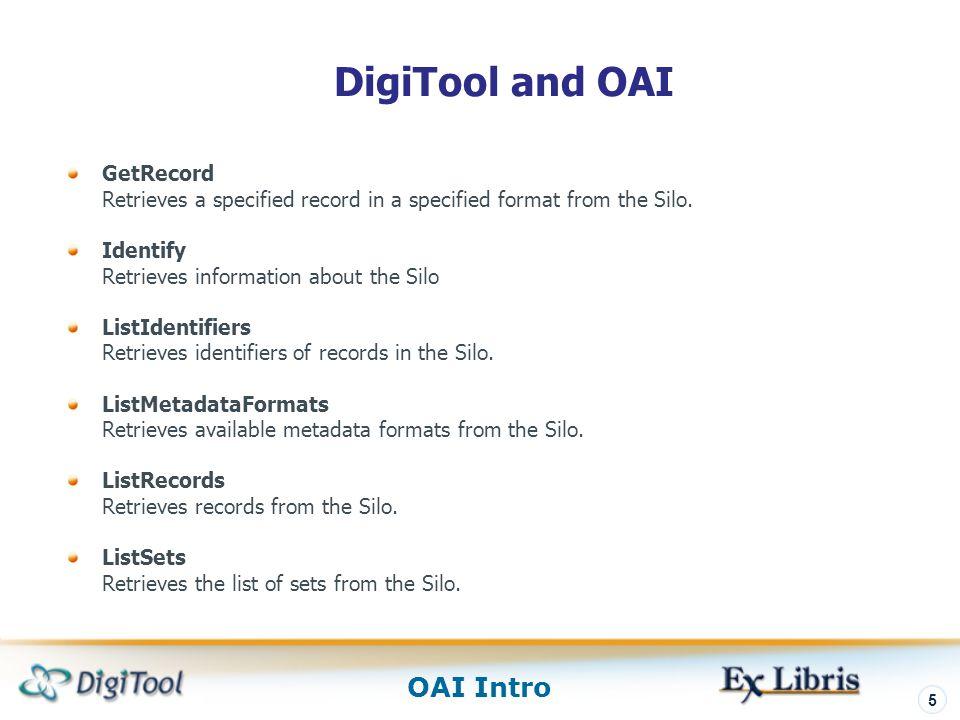 DigiTool and OAI GetRecord